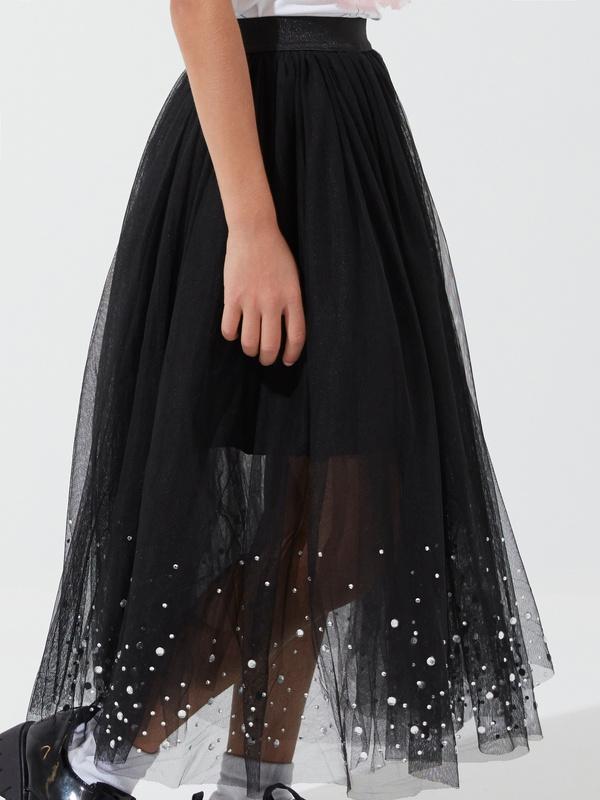 Пышная юбка из фатина для девочек - фото 2