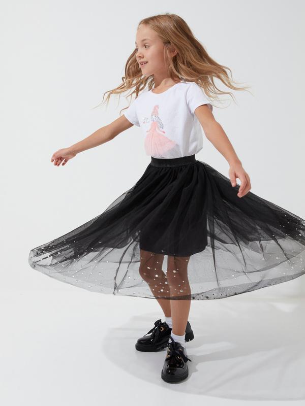 Пышная юбка из фатина для девочек - фото 3