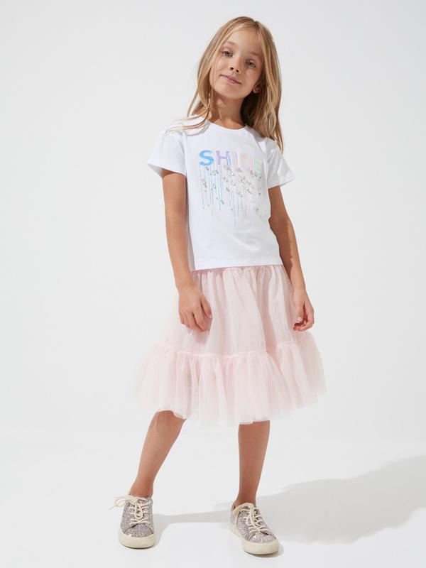 Многоярусная юбка для девочек из фатина - фото 1