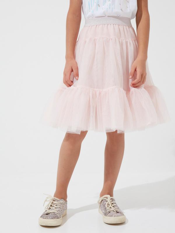 Многоярусная юбка для девочек из фатина - фото 2