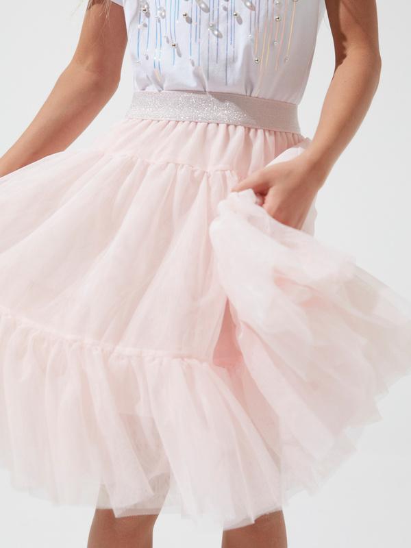 Многоярусная юбка для девочек из фатина - фото 3