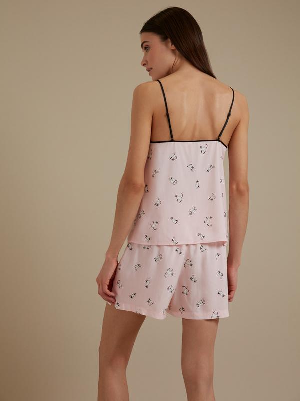Пижама с принтом (топ+шорты) - фото 3