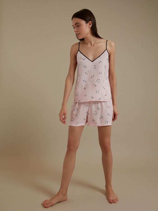 Пижама с принтом (топ+шорты) - фото 4