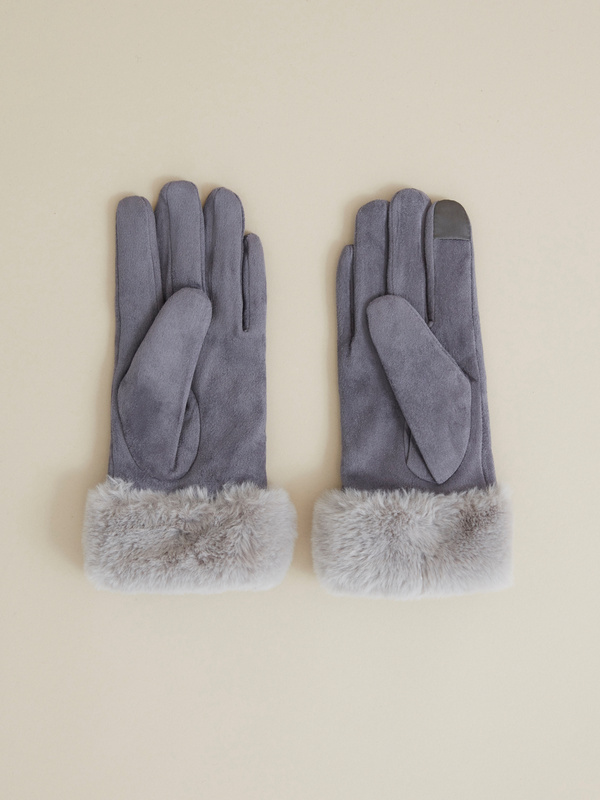 Перчатки с подкладом из искусственного меха - фото 2