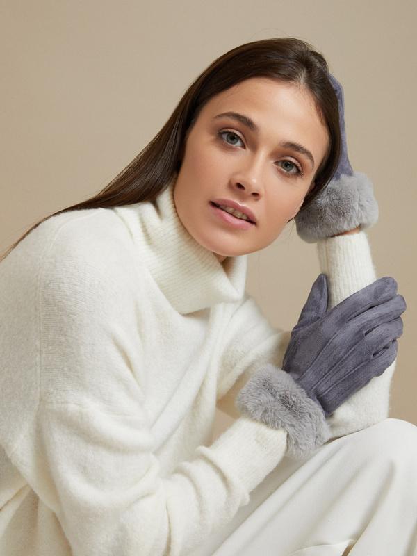 Перчатки с подкладом из искусственного меха - фото 3