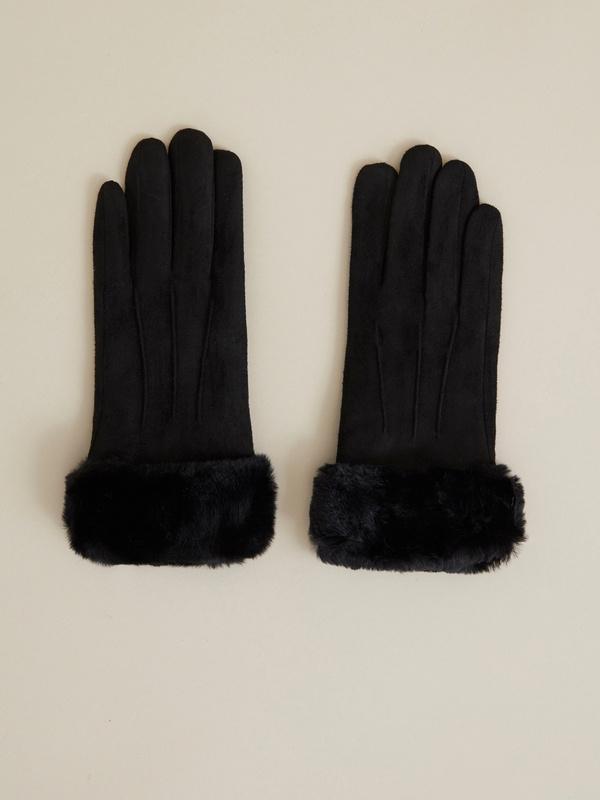 Перчатки с подкладом из искусственного меха - фото 1