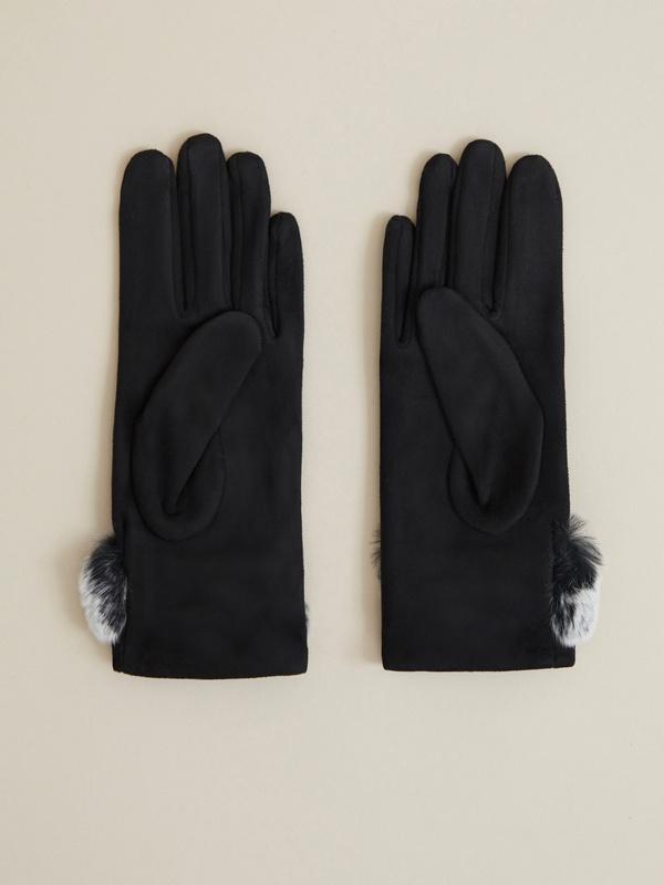 Перчатки имитация замши - фото 2