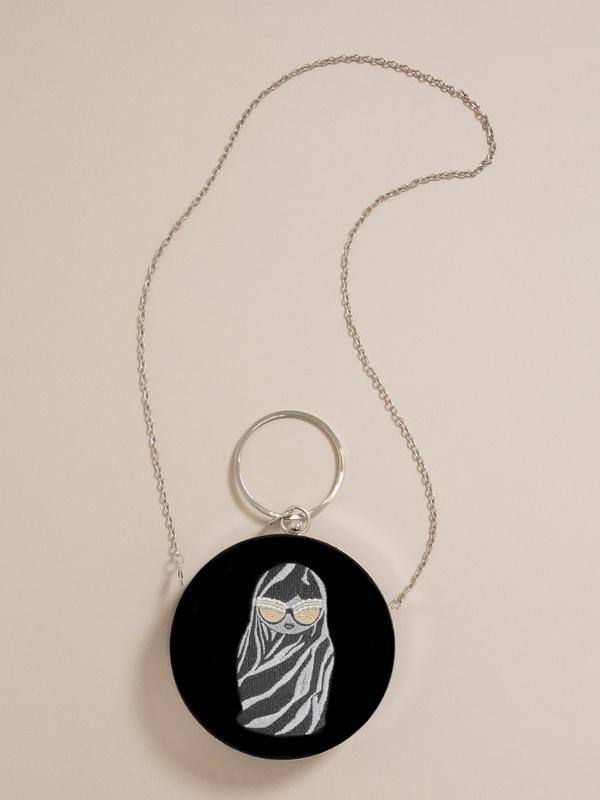 Круглая бархатная мини-сумка - фото 2