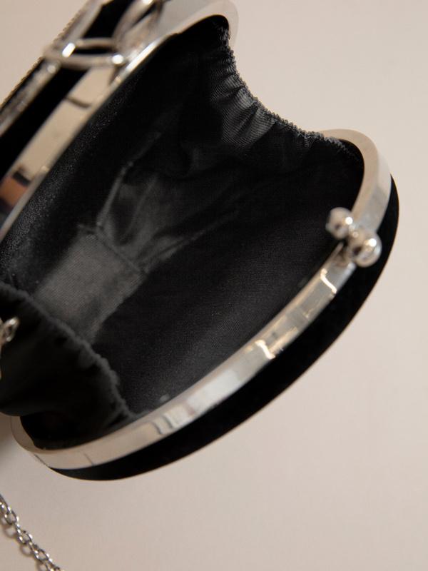 Круглая бархатная мини-сумка - фото 4