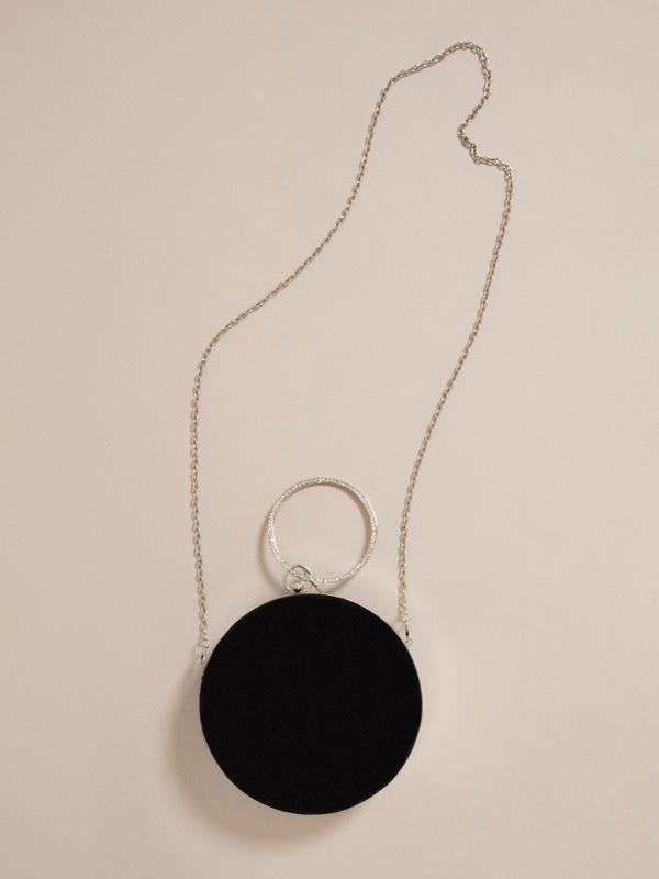 Круглая бархатная мини-сумка - фото 5