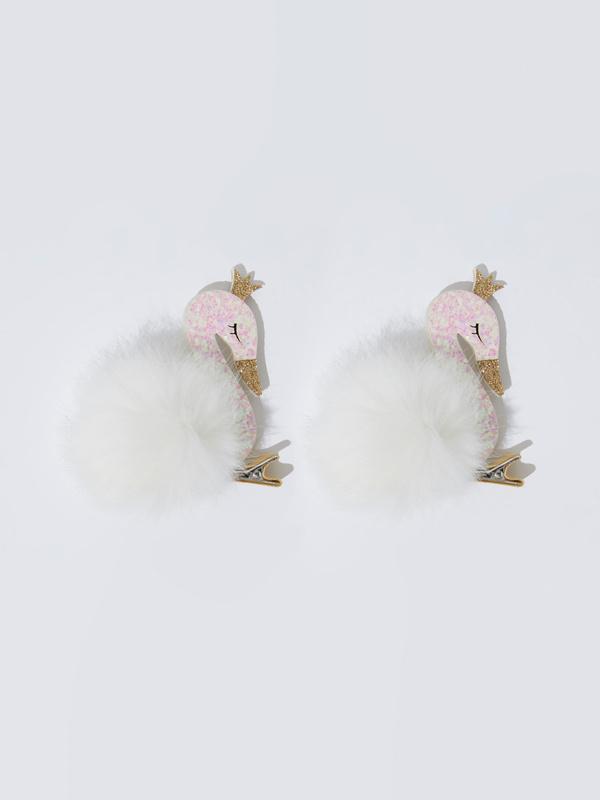 Заколки-лебеди для девочек - фото 1