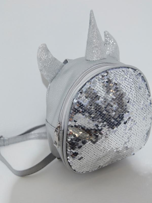 Рюкзак с пайетками для девочек - фото 2