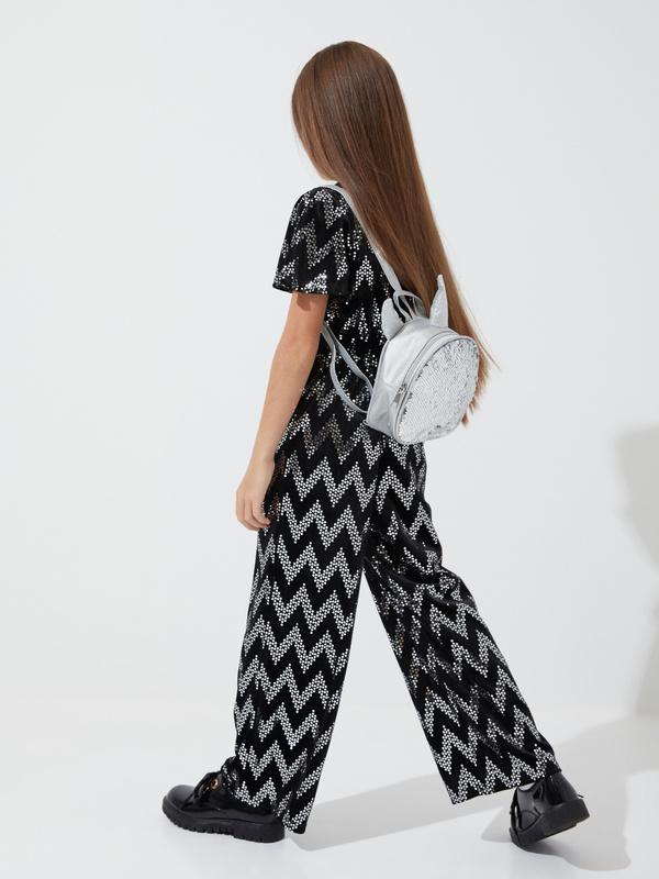 Рюкзак с пайетками для девочек - фото 5