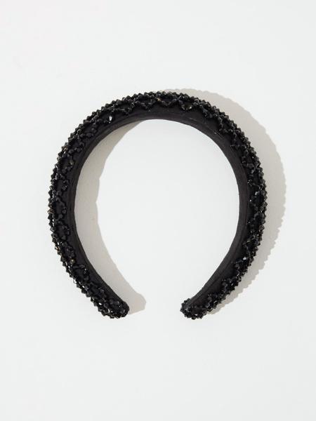 Ободок для волос со стразами - фото 1
